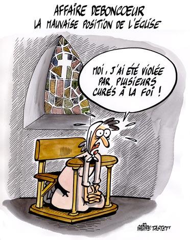 dessin : La mauvaise position de l'église