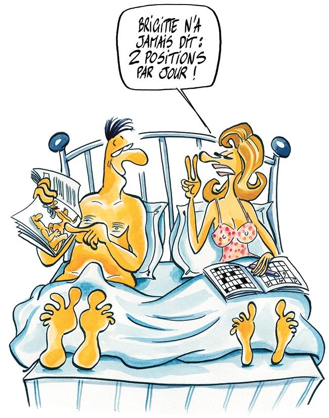 dessin Brigitte LAHAIE vous propose des positions sexuelles amusantes, tendres, ludiques ou sauvages...