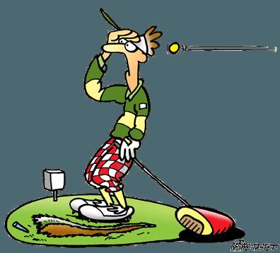 dessin de golf : le drive