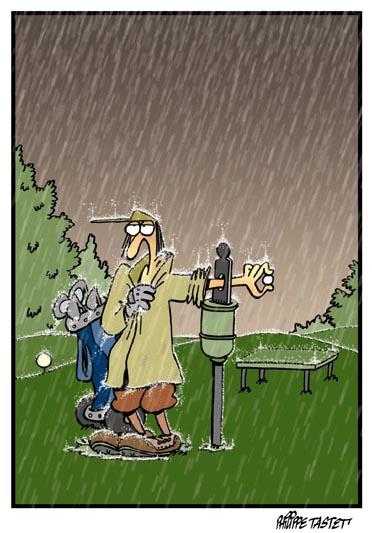 Dessin de golf : Toujours nettoyer et sécher sa balle