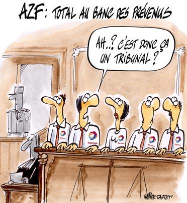 dessin : AZF - Total au banc des prévenus