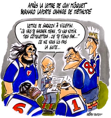 dessin : Bernard Laporte change de méthode