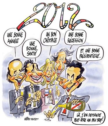 Sarkozy : bonne année 2012