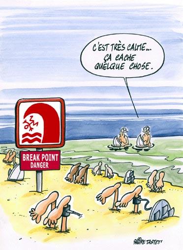Dessin : Surf break point