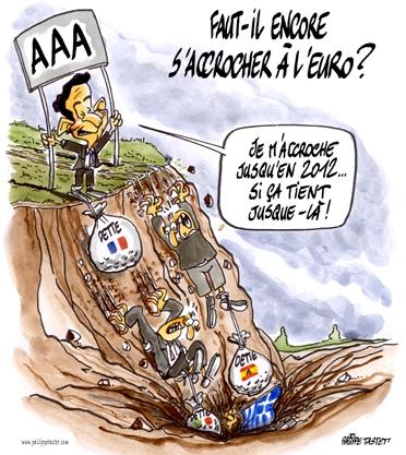 dessin : Faut-il encore s'accrocher à l'euro ?