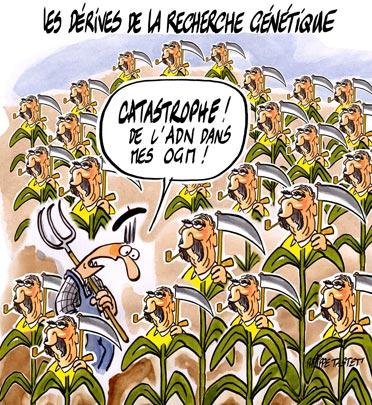dessin : OGM, Les dérives de la recherche génétique
