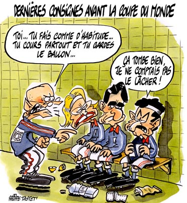 dessin : Dernières consignes avant la coupe du monde de rugby