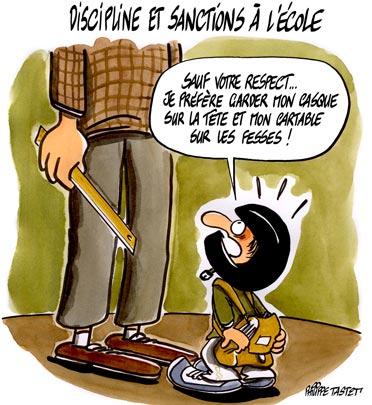 dessin : Discipline et sanctions à l'école.