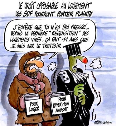 dessin : Le droit opposable au logement