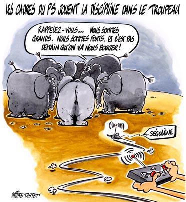 dessin : Ségolène Royal contre-attaque