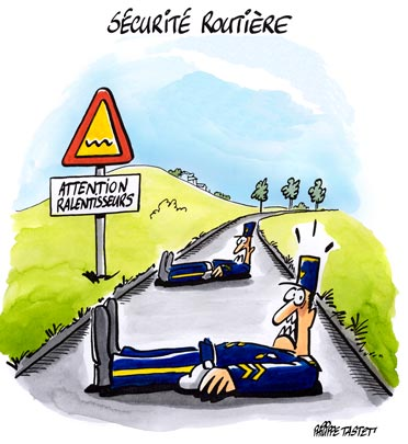Sécurité routière, les gendarmes couchés