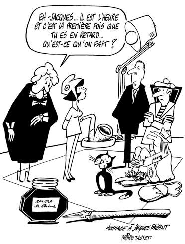 dessin : Hommage à Jacques Faizant.