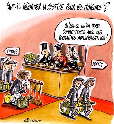 dessin : Faut-il réformer la justice pour les mineurs ?
