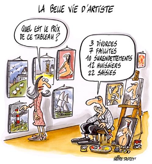 dessin La belle vie d'artiste