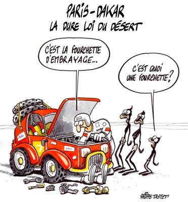 dessin : Paris-Dakar la dure loi du désert