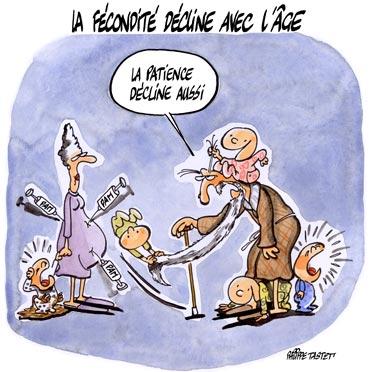 dessin : Avoir un enfant de plus en plus tard, un choix à risque