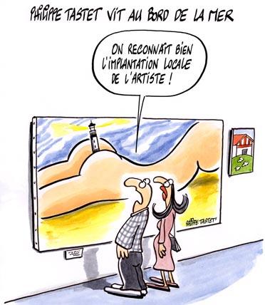 Dessin : Philippe Tastet vit au bord de la mer
