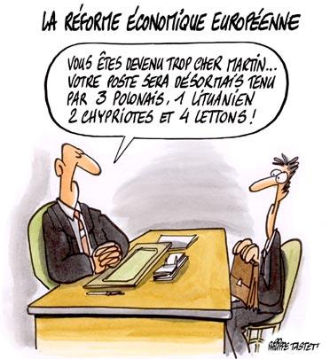 dessin : La réforme économique européenne