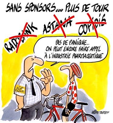 dessin : Tour de France 2007 - dopage -