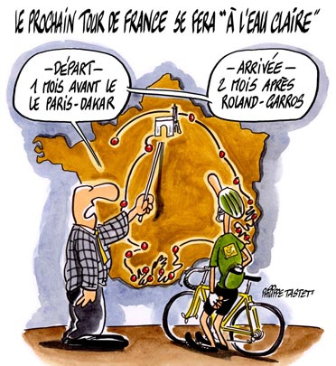 dessin : Le prochain Tour de France se fera sans dopage