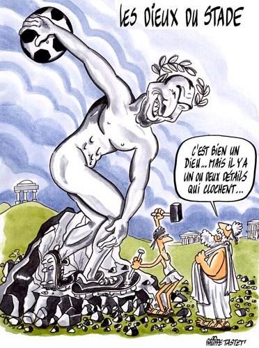 dessin : Les Dieux du stade Zinedine Zidane