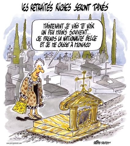 dessins sur les retraites, les retraités