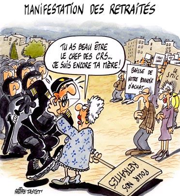 Manifestation des retraites