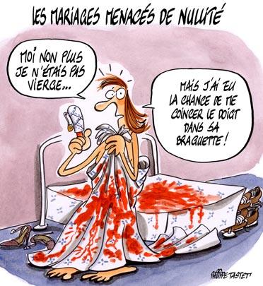 dessin : Les mariages menacés de nullité