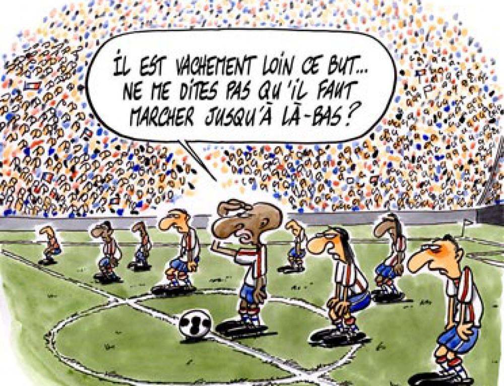 L'équipe de France de football en plein doute