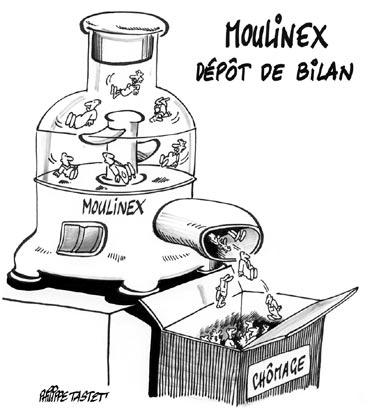 dessin : Moulinex dépôt de bilan