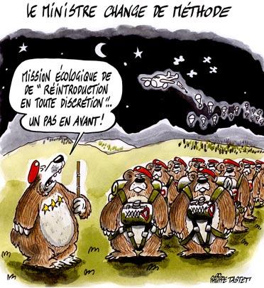 dessin : Le ministre de l'écologie change de méthode