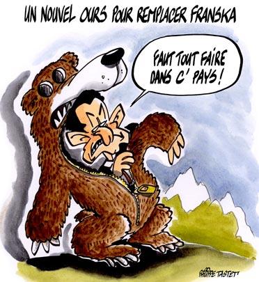 Sarko : Un nouvel ours pour remplacer Franska
