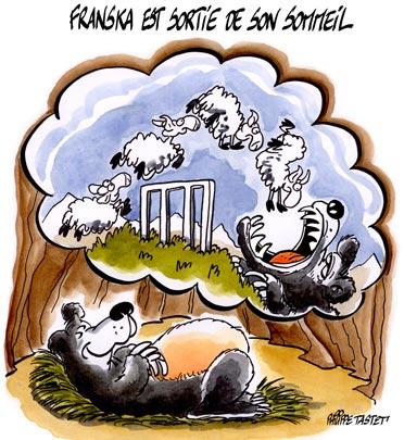 Réintroduction de l'ourse Franska des pyrénées