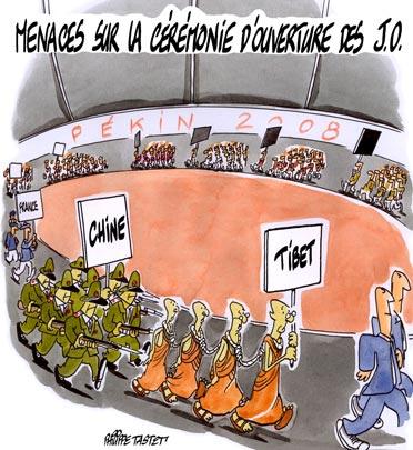 dessin : Menaces sur la cérémonie d'ouverture des JO