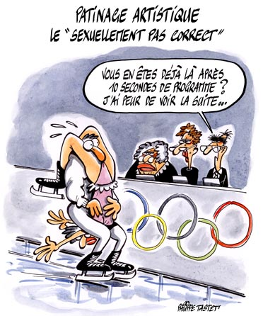 dessin : JO le scandale des notes en patinage artistique