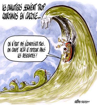 dessin : Les chalutiers trop gourmands en gazole