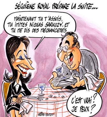 dessin : Ségolène Royal prépare la suite...