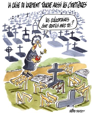 La crise du logement touche aussi les cimetières