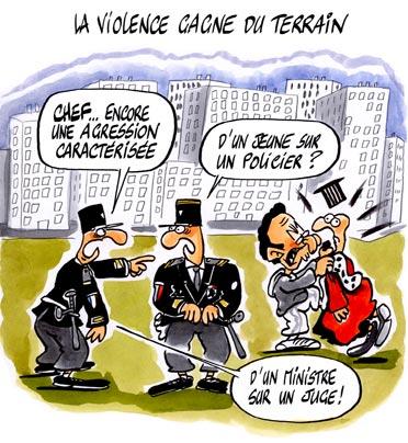 dessin : La violence gagne du terrain