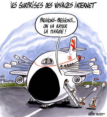dessin : La surprise des voyages internet