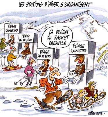 dessin : Les stations d'hiver s'organisent