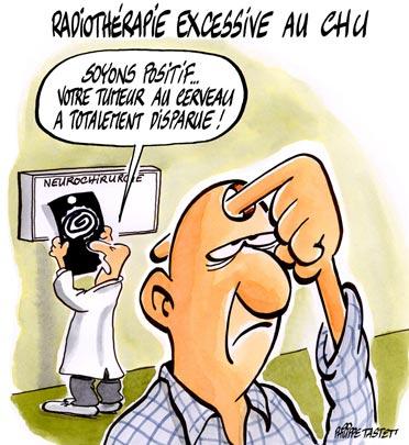 dessin : Radiothérapie excessive