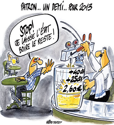 la taxe sur la bière