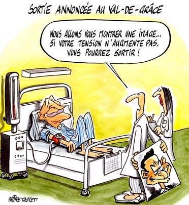 dessin : Sortie annoncée au Val-de-Grâce