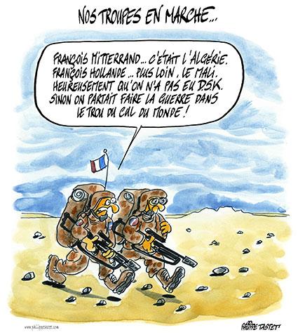 guerre au Mali, nos troupes sur le terrain