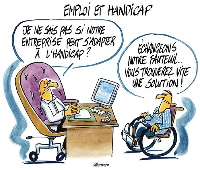 dessin de presse handicap