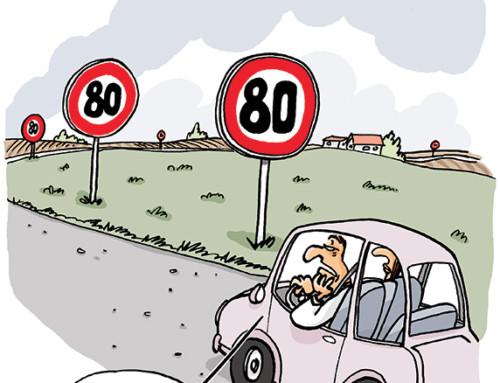 La vitesse à 80 KM/H