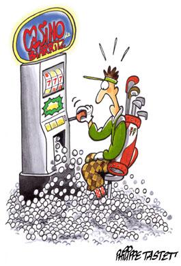 dessin de golf : jack pot