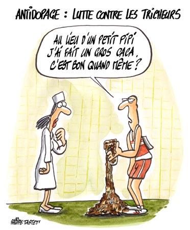 dessin : Antidopage - Lutte contre les tricheurs