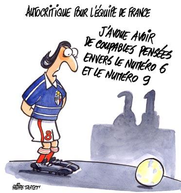 Dessin : Autocritique pour l'équipe de France